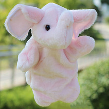 Pink Grey Elephant Hand Puppet Baby Kids Child Soft Hand Puppet Doll Plush Hand Puppets Toys Stuffed Interactive Toy MU974541