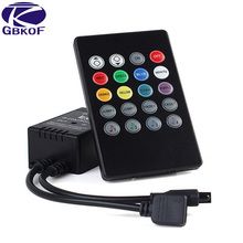 LED Music IR Controller 20key Remote Sound Sensor withut battery For 3528 5050 RGB LED Strip Free shipping(China)