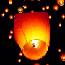 Multicolor Paper Chinese Lanterns Fire Sky Flying Paper Candle Wish Lamp Birthday Party Wedding Decoration