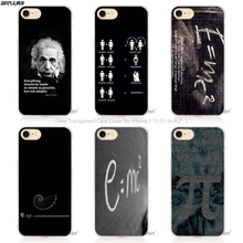 BiNFUL e mc2 with E=mc Math Albert Einstein Hard Transparent Phone Case Cover Coque for Apple iPhone 4 4s 5 5s SE 5C 6 6s 7 Pl(China)