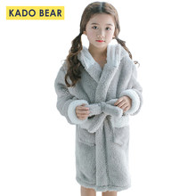 2aa9aa4bd4 Children Coral Fleece Bathrobe Baby Girls Flannel Pajamas Cartoon Sleepwear  Boy Nightgown Kids Hooded Towel Robes Winter Clothes