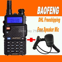 DHL freeship+radio walkietalkie baofeng new firmware UV-5r,fm radio station,vhf uhf Dual Band,compared alan midland free speaker