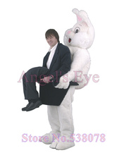Big Funny Rabbit Mascot Easter Bunny Costume Adult Size Cartoon Character Rabbit Bugs Theme Carnival Fancy Dress Kits Suit