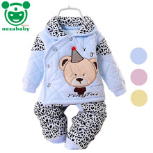 2016 Hot baby winter clothes newborn baby clothes set carton bear baby boy clothes infant baby girl clothes pants set TZ23