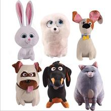 18cm 1PC The Secret Life Of Pet Cartoon Dog Rabbit Stuffed Animals Toys Gift Buddy Chloe Pets Plush Toys
