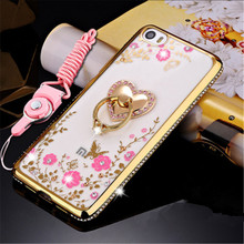 OEMDIY New Fashion Rhinestones cartoon Rose Gold cell phone cover case For Xiaomi Note mi5 Redmi hongmi Note3 Diamond case shell(China)