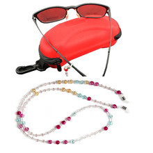 New 1pc Colorful Beaded Glasses Sunglasses Spectacle Beads Chain Strap Cord Holder Neck Cords Jewelry Findings Accessories(China)
