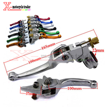 Alloy ASV Short Clutch Brake Folding Lever Fit To Dirt Bike Pit bike Motorcycle MX Spare Parts(China)