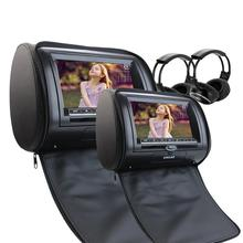 Car Styling Headrest DVD player Car Headrest CD DVD Player LCD Screen Audio Car DVD/Multimedia Headrest USB SD IR FM Transmitter(China)