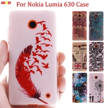 LELOZI High Quality Glossy IMD Print Soft TPU Back Cell Phone Case Cover For Nokia Lumia 630 N630 635 N635 Protective Skin(China)