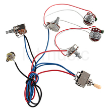 Electric Guitar Wiring Harness Kit 2V2T Pot Jack 3 Way Switch for Gibson Les Paul Lp Parts
