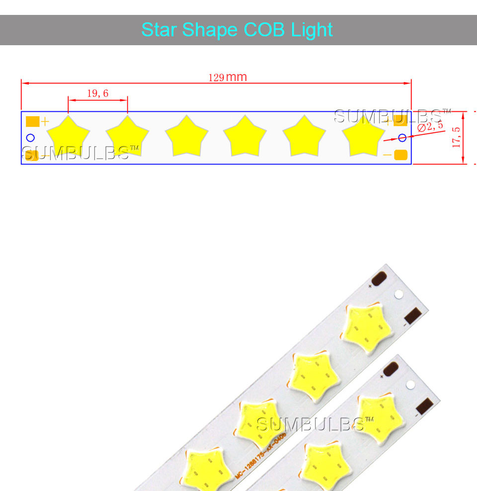 Special Shape COB LED Light Strip DC 12V 5W 6W Cold White LED Bulb with Star Grid Arrow Shape DIY Work Home Car Decor Lighting (1)