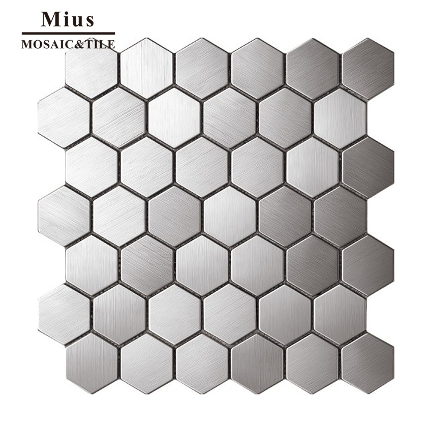 Home decoration  metal mosaic tile hexagonal strip pebble oval rhombus <br>