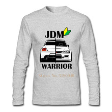 Men's Long Sleeve T Shirts Adult Brand JDM Car Warrior T-shirts Adult Tees 100% Cotton Clothes Cheap Sale Tops(China)