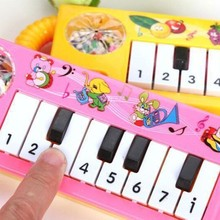 Portable Baby Infant Toddler Kids Musical Piano Development Toy Early Educational Game Toy Music Piano Color Random