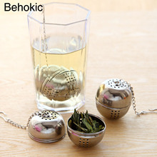 Behokic 5PCS Metal Stainless Steel Tea Infuser Strainer Filter Ball for Kitchen Soup Cooking Tea Drinking Infusor Gadgets Tools(China)