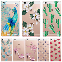 Honor7 Soft TPU For Huawei Honor 7 Cases Case Phone Super Popular Painted Elegant Flowers Fresh Cactus Green Pineapple Silicon