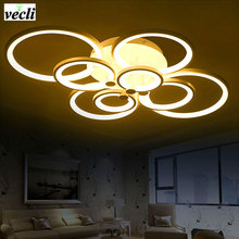 Modern fopyer hall Bedroom living room led ceiling lamp,creative fashion led ceiling light, luck ring series, 8 heads(China)