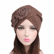 EMS OR DHL 120PCS New Two Flower Headband Corn Kernels Handmade Wool Hat Knitting Wool India Headdress TJM-86C Hair Accessories(China)