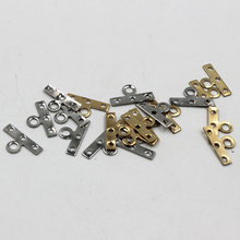 GHRQX Rhodium Gold wave connection Spacer 14mm 3 hole DIY metal Jewelry fittings Wholesale 100 pcs(China)