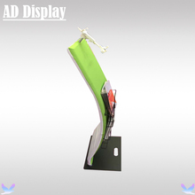 Portable Ipad Tension Fabric Stand With Single Side Banner Printing,Exhibition Booth Advertising Display Brochure Stand(China)