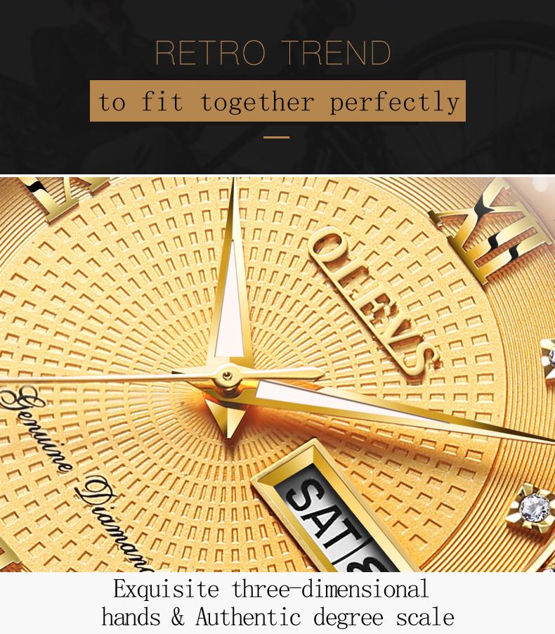 ساعة يد رجالي عالية الجودة مرصعةبالماس 8