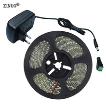 ZINUO5M 5630SMD 300Leds Led Stripe Light Flexible 5730 Led Tape Ribbon DC12V Waterproof IP65 + 12V 2A Power Adapter + DC Connect