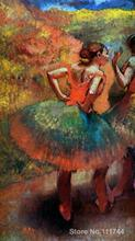 Paintings for bedroom Two Dancers in Green Skirts Landscape Scener by Edgar Degas Home Decor Hand painted High quality(China)