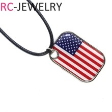 2018 Russia football World Cup USA AMERICAN football team Alloy Flag pendant Necklace soccer Fans Souvenir Gifts(China)