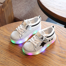 Children Shoes With Light Boys Growin Led Sneakers Spring Sport Led Light Girls Shoes Children Running Shoes Kids Shoes EU21-30