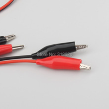10pcs/lot Double Edn Test Leads Alligator Crocodile Roach Clip Jumper Wire Alligator leads Electrical Jumpers Wire Cable