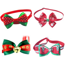Christmas Gift Dog Cat Bow Ties Bowtie Dog Neckties Holiday Pet Wedding Decoration Dog Grooming Accessories 6 Style