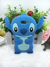 Cheapest 3D Lovely Kawaii Cartoon Stitch Soft Silicone Back Cover Phone Case For Motorola RAZR i XT890(China)