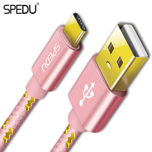 SPEDU USB Type-C Cable Fast Charger Cable type c Chager Data Cable Mobile Phone USB Cable for Xiaomi Mi 4C Mi5 OnePlus 2 Nexus 5