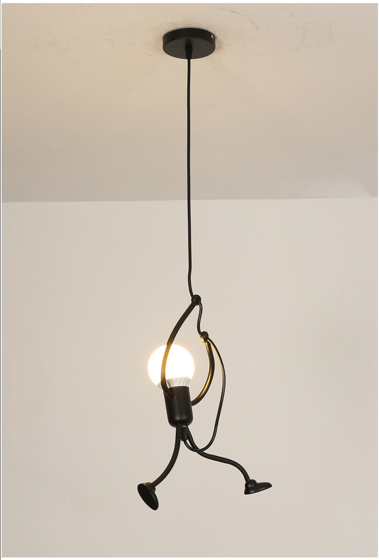 Novelty Pendant Lighting Fixtures Black Iron Dining Room Cafe Restaurant Lamps Modern Hanging Light Suspension Luminaire 10