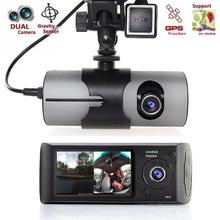 "Dual Camera Car DVR R300/X3000 with GPS and 3D G-Sensor 2.7"" TFT LCD X3000 Cam Video Camcorder Cycle Recording Digital Zoom(China)"