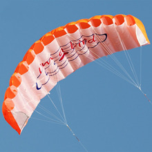 140cm Kites Dual Line Parafoil Stunt Kite Braid Sailing Surf Rainbow Kite Outdoor Sports 3 Color High Quality With Flying Tools(China)