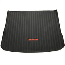 warehouse rubber texture car trunk mats for Volkswagen Tiguan waterproof non slip senior enrionmental latex carpets