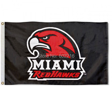 Miami Redhawks Nylon College Large Outdoor Flag 3ft x 5ft Football Hockey College USA Flag(China)