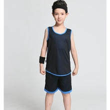 Children's sportswear Set breathable shirt & shorts basketball jersey Kid Boys students Basketball Clothes Suit throwback