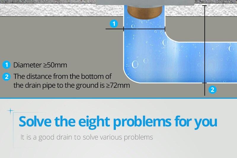 DCAN Brass Drains Drain Strainers Floor Linear Shower Floor Drains Bathroom Shower Drain Cover Kitchen Filter Strainer Drainer (8)