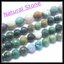 Wholesale price ! Faceted Indian Agatee stone nature semi precious stone beads accesories size 4mm 6mm 8mm 10mm 12mm(China)