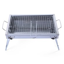 33.2 x 22.5cm Folding Portable Stainless Steel BBQ Charcoal Grill Outdoor Camping Cooker Smoker Utility Barbecue Tray
