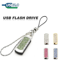 2015 Golden and sliver Rotating USB flash drive pen drive pendrive U disk memory card 2GB 4GB 8GB 16GB 32GB 64GB Jewelry