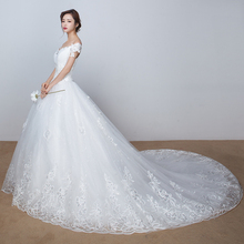 lace vintage real photo wedding dress half sleeve bridal gowm simple strapless turkey 2016 with long tail high quality crystals