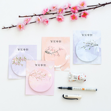 4 Pack/lot Loveky flower plum blossom Post It Memo Pad Sticky Notes Cute Office Supplies Bookmark Paper Scrapbooking Sticker