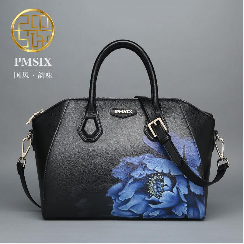 2017 Pmsix new fashion printed leather Messenger Bag shoulder bag Chinese style temperament hand bag<br><br>Aliexpress