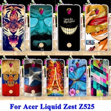 Soft TPU Cell Phone Cases For Acer Liquid Zest Z525 Z528 Shell Covers Cat Tiger Captain American Batman Housing Silicon Shell