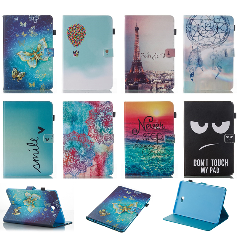 For Samsung GALAXY Tab A 10.1 P580 P585 SM-P580 SM-P585 Case Fashion Pattern Wallet Flip PU Leather Tablet Back Cover Funda<br><br>Aliexpress