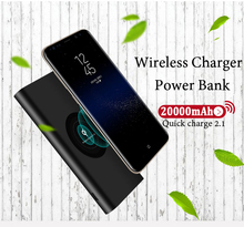 Buy 20000mah Power Bank External Battery quick charge Wireless Charger Powerbank Portable Mobile phone Charger iPhone 8 8plus X for $15.96 in AliExpress store